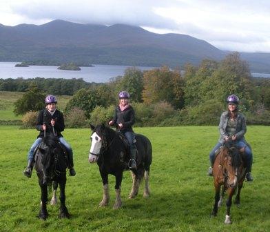 Shannon Simms horseback riding in Killarney National Park