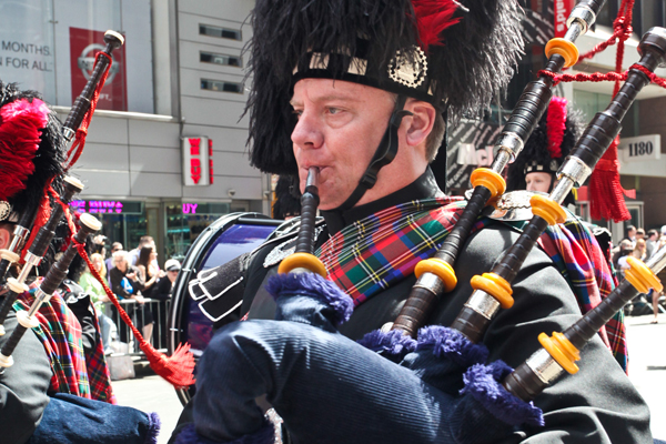 Scenes from Scotland Week Parade on 6th Avenue