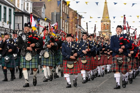 Mass Pipe Bands in Evening