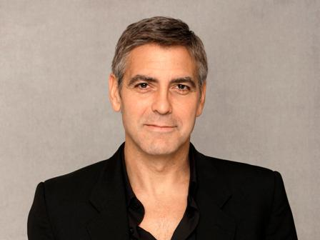 Actor George Clooney poses for a photograph in Beverly Hills Calif., Monday, Feb. 4, 2008. (AP Photo/Kevork Djansezian)