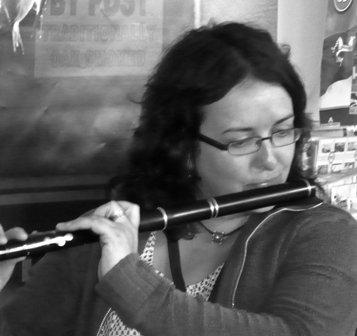 Breesha Maddrell playing flute
